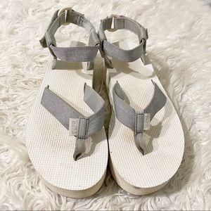 Teva Glitter Platform Sandal